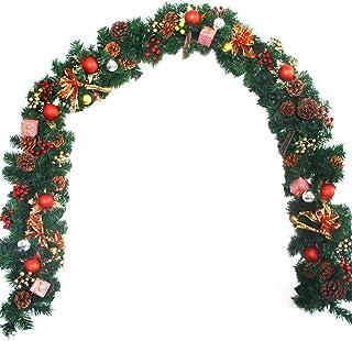 Justdolife Guirnalda De Navidad Pinecones Artificiales Bayas Guirnalda De Pinos Adorno Colgante De Navidad