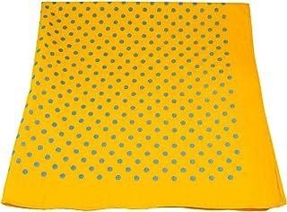 Yellow & Blue Polka Dot Bandana Neckerchief