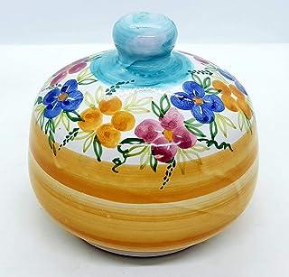 Nascondispugna per Cucina e Bagno Handmade Le Ceramiche del Castello Made in Italy Dimensioni H 11,5 x L 13 centimetri