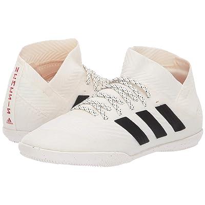 adidas Kids Nemeziz 18.3 IN Soccer (Little Kid/Big Kid) (Off-White/Black/Active Red) Kids Shoes