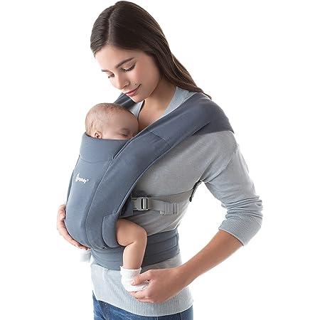 Ergobaby Embrace Cozy Newborn Baby Wrap Carrier (7-25 Pounds), Oxford Blue