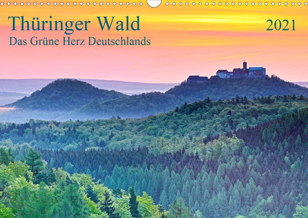 Thüringer High material Wald Das Gifts Grüne Herz Wandkalender DI Deutschlands 2021
