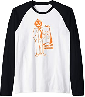 Pumpkin Smuggler Funny Halloween Costume Pregnancy Gift Raglan Baseball Tee