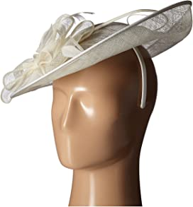 ba54d68e34044 DRS1008 Oversized Fascinator with Double Bow and Feathers. 22. San Diego  Hat Company