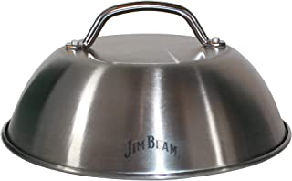 "Jim Beam JB0181 9"" Burger Cover and Cheese Melting Dome, Silver"