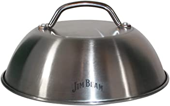"""Jim Beam JB0181 9"""" Burger Cover and Cheese Melting Dome, Silver"""