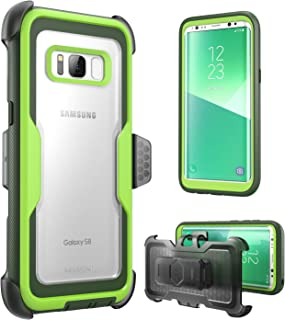 i-Blason Armorbox Series Case for Galaxy S8, [Full Body] [Heavy Duty] Shock Reduction/Bumper Case Without Screen Protector for Samsung Galaxy S8 2017 Release (Green)