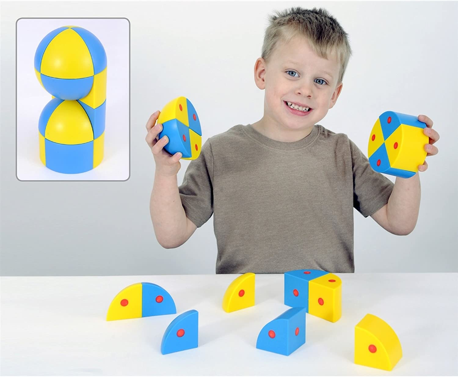 3D Magnetic Blocks Spheres and Cylinders