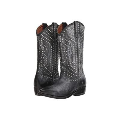 Frye Billy Stud Pull-On (Black Waxed Full Grain) Women