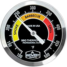 Midwest Hearth BBQ Smoker Thermometer for Barbecue Grill, Pit, Barrel 3