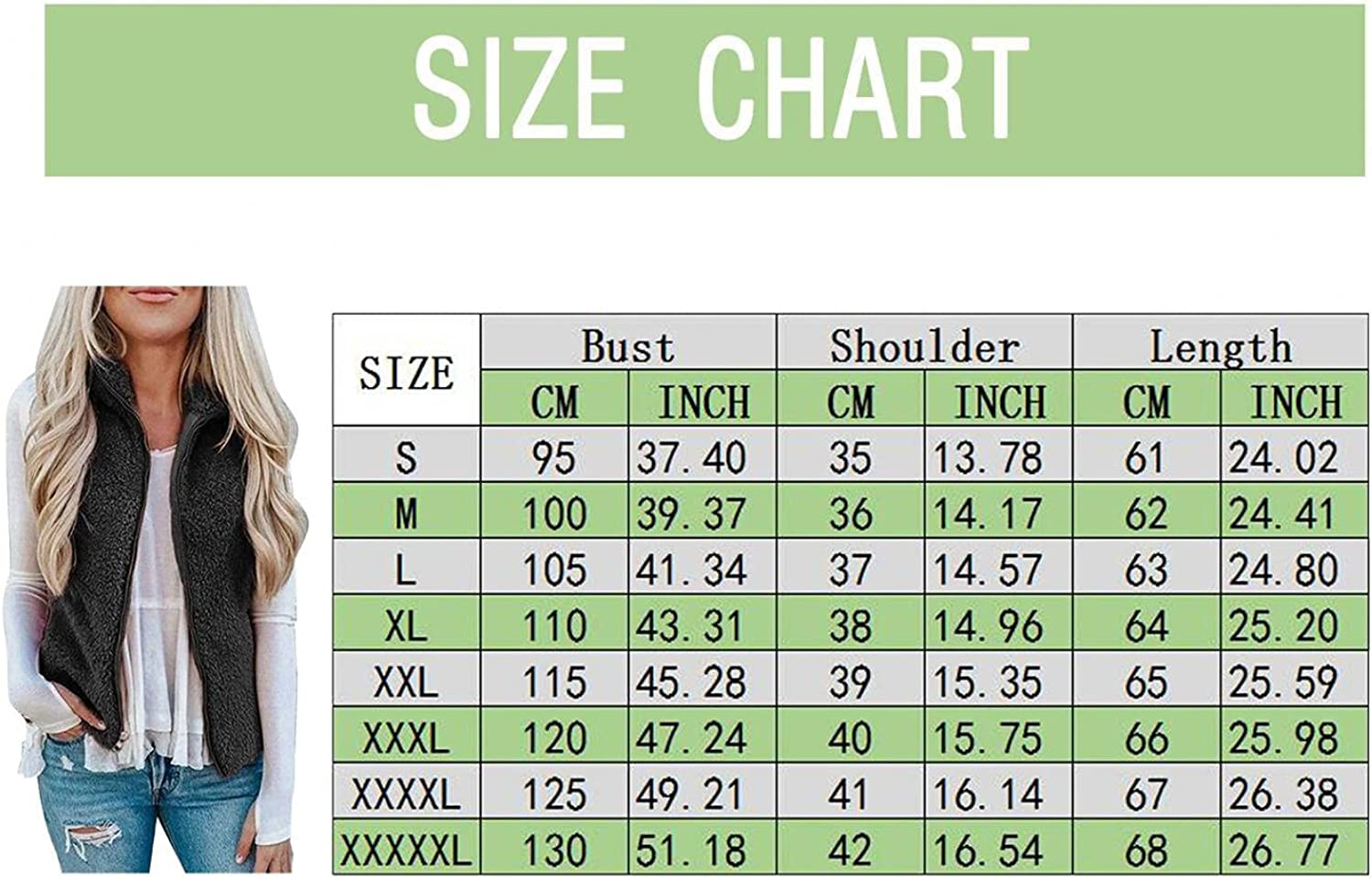 Women's Fuzzy Fleece Vest Plush Sleeveless Lapel Vests Outwear Solid Color Zipper Loose Thick Jackets Coat With Pockets