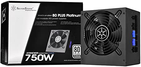 SilverStone Technology 750W 80 Plus Platinum Certified Single +12V Rail ATX Power Supply, PS-ST75F-PT