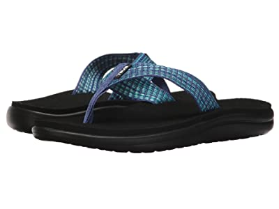 Teva Voya Flip (Bar Street Multi Blue) Women