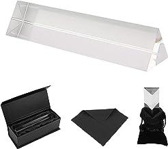 BELLE VOUS Prisme Photographie - Prisme Optique 15 cm avec Pochette en Velours, Tissu en Microfibre et Boite Cadeau - Prisme Cristal K9 pour Spectre de Lumière - Prisme Triangulaire pour Effet Photo
