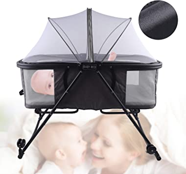 KPfaster Portable Bassinet for Baby, Baby Bassinet Bedside Sleeper, Foldable Travel Bassinets for Babies, Baby Essentials for
