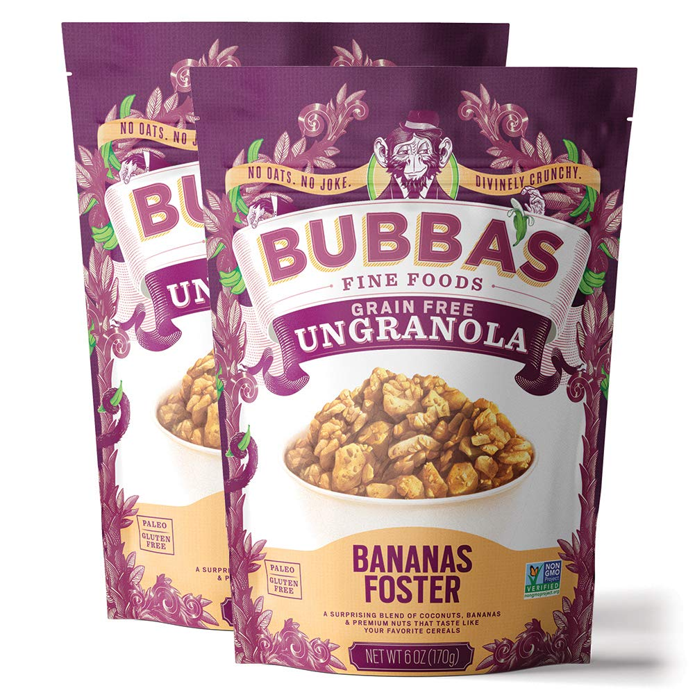 Bubba's Foods Grain Free Fort Worth Mall Granola Bananas Foster Pack 2 6oz Super Special SALE held of
