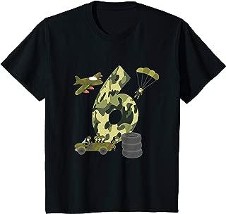 Kids 6th Birthday Boys Tshirt - Camouflage Hero Army Soldier Tee