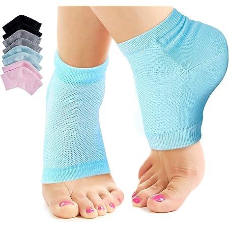 Moisturising Gel Heel Socks foot repair Open Toe Dry Hard Cracked feet skin Heel