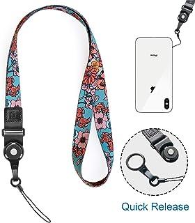 Xiuyer 12 Pezzi Cellulare Cordino Staccabile Nylon Laccio da Collo Lanyard Hang String per Telefoni Cellulare Telecamera Portachiavi ID Carta Badge 6 Colori, 40cm