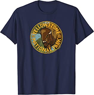 US National Park - Vintage Distressed Design - Yellowstone T-Shirt