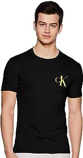 Calvin Klein Jeans Men's Instit Back Pop Logo Slim T-Shirt, Black, X-Large