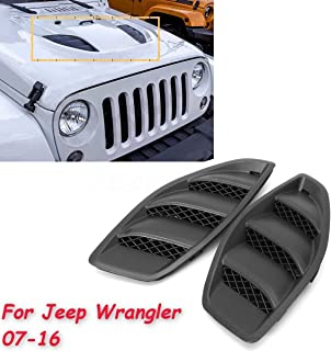 3 Styles Optional DEALPEAK ABS Car Modified Accessory Bonnet Hood Air Vent Cover Fits for Auto RS MK2 Series