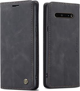 HATA Samsung LG V60 ThinQ Case, LG V60 ThinQ FILP Leather Wallet case with View Stand Card Slot Holders Magnetic LG V60 Th...