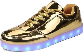 kealux Unisex Adulto Scarpe LED Scarpe con Tacco Basso Scarpe da Ginnastica Bianche con LED Lampeggianti Scarpe caricabili...
