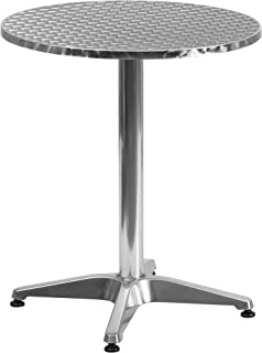 Flash Furniture 23.5'' Round Aluminum Indoor-Outdoor Table with Base - TLH-052-1-GG