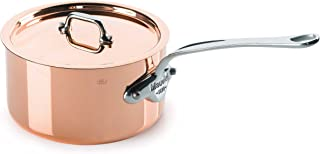 Mauviel Made In France M'Heritage Copper M150S 6110.15 1.2-Quart Saucepan with Lid, Cast Stainless Steel Handles.
