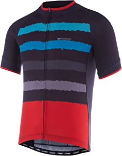 Unkoo Top New Years Boy Friend Gift Newest Designs Peloton Jersey Fabric MTB Bike Mens Short Sleeve Cycling Jersey Breathable Shirts Full Length Zipper Cycle Tops Casual Sportswear Summer Eagle Patte