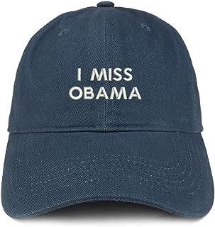 Trendy Apparel Shop I Miss Obama Embroidered Brushed Cotton Dad Hat Cap