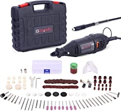 GOXAWEE Rotary Tool Kit with MultiPro Keyless Chuck and Flex Shaft – 140pcs..
