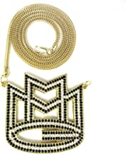 Hip Hop Jewels Iced Out Gold & Black Rick Ross MMG Pendant & 36