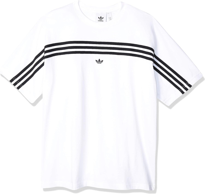 Activewear Adidas Men 3-Stripe Shirts Training Black White T-Shirt ...