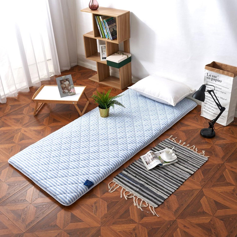 Student Dormitory Mattress,90cm Single Bed dice Thicked Warm Tatami 1.2 m Soft Floor mat futon Mattress Topper Foldable Cushion mats-B 90x200cm(35x79inch)