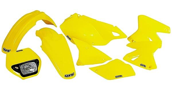 UFO SU03976102 Replacement Plastic for Suzuki F-FDR DRZ400 N Yellow