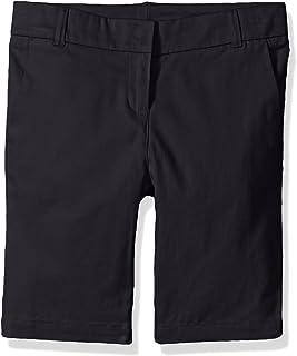 dockers Little Girls' Uniform Twill Bermuda Short, Navy, 6X