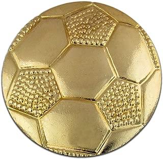 PinMart's Soccer Ball Gold Chenille Sports Lapel Pin