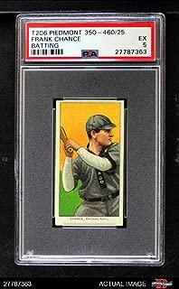 1909 T206 BAT Frank Chance Chicago Cubs (Baseball Card) (Batting) PSA 5 - EX Cubs