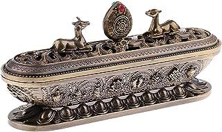 joyMerit Tibet Tibetan Alloy Incense Censer Burner Metal Aroma Stove Decoration - Bronze