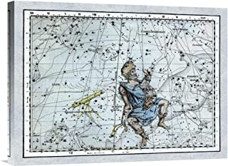 Global Gallery Budget GCS-450143-1824-142 Alexander Jamieson Maps of The Heavens: Auriga The Charioteer Gallery Wrap Gicle...
