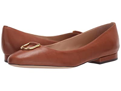 LAUREN Ralph Lauren Galyn (Deep Saddle Tan Super Soft Leather) Women