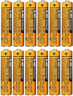 12 x Pilas Recargables AAA 630 mah 1.2v para Panasonic, baterias Recargables NiMH para telefonos inalambricos: Amazon.es: Electrónica