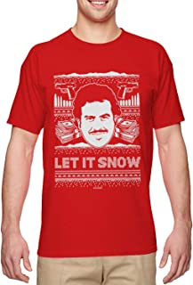 Let It Snow - Famous Drug Lord Ugly Christmas Men's T-Shirt