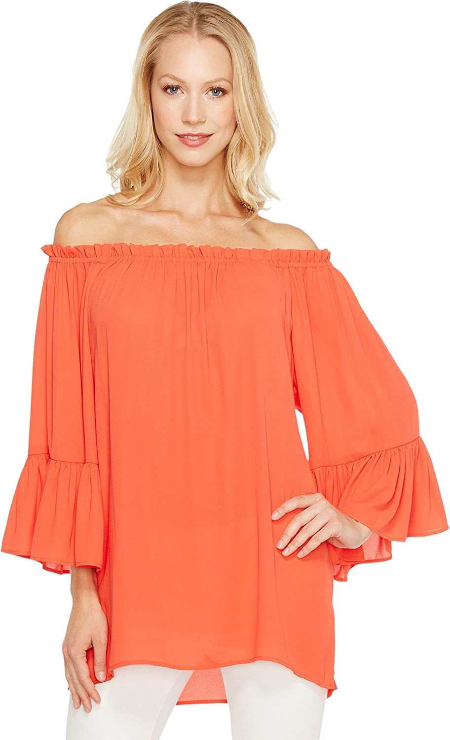 Karen Kane Womens Congreenible OffTheShoulder Casual Top
