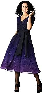 ombre star print dress