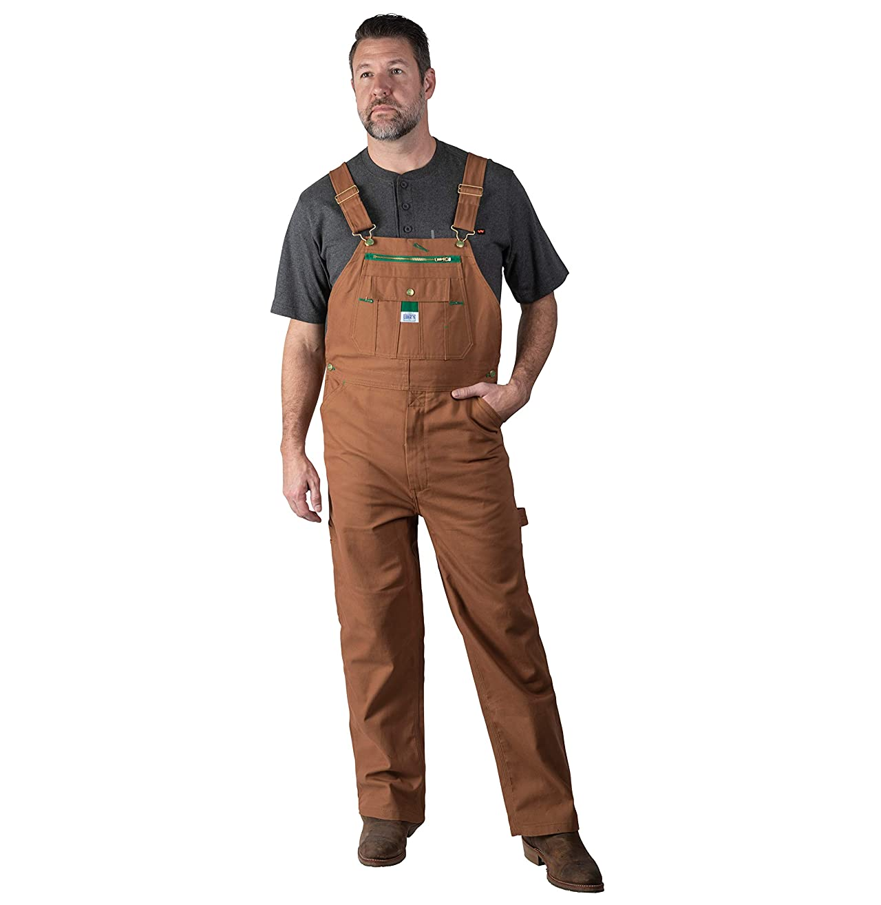Liberty Men's Duck Bib Overall