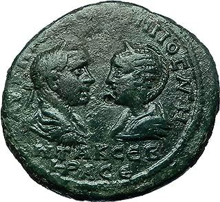 244 IT PHILIP I & OTACILIA SEVERA 244AD Ancient Roman Ma coin Good