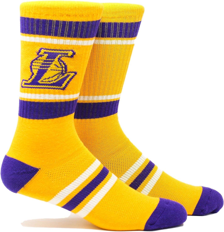 PKWY Unisex 2-Pack Los Angeles Lakers Crew Socks